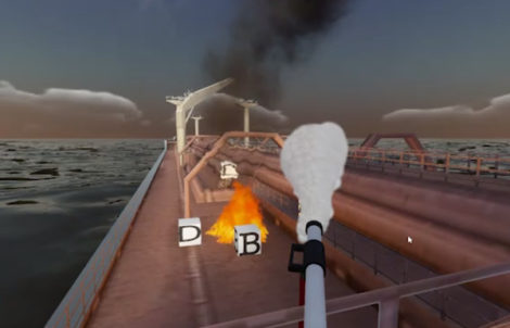Tanker firefighting simulator